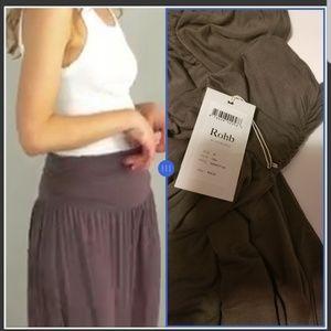 Rohb Long Maxi Skirt Camo Olive Green